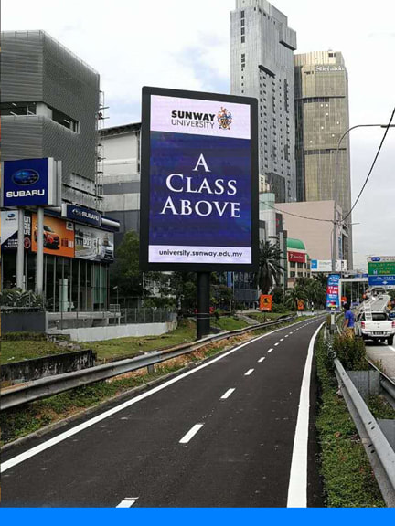 led display kl federal highway